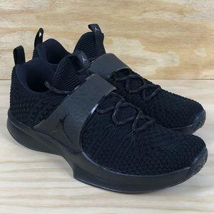 Nike Jordan Trainer 2 Flyknit Black Slip On Shoes